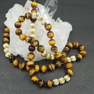Jewelry - Tiger Eye and 14K Yellow Gold OOAK Necklace